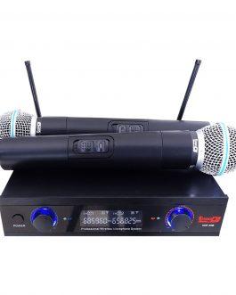 MICRÓFONO INALÁMBRICO DOBLE PRODJ UHF-32M