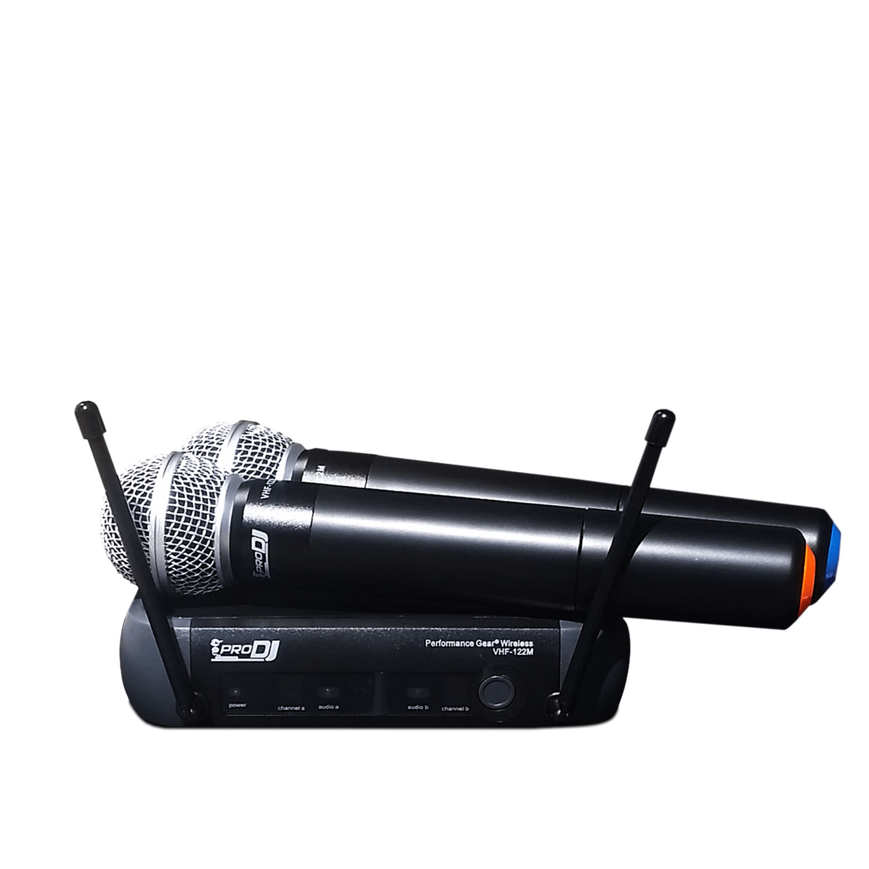 MICRÓFONO DOBLE INALÁMBRICO PRODJ VHF-122M