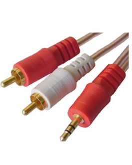 CABLE DE AUDIO RCA A 3.5MM BLINDADO (2X1)