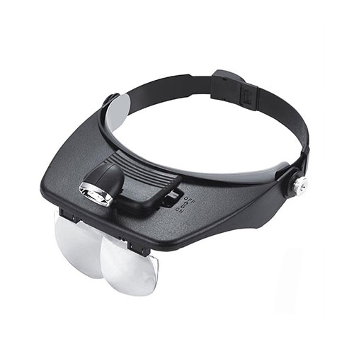 LUPA VICERA CON LUZ LED + 4 LENTES MP-244L