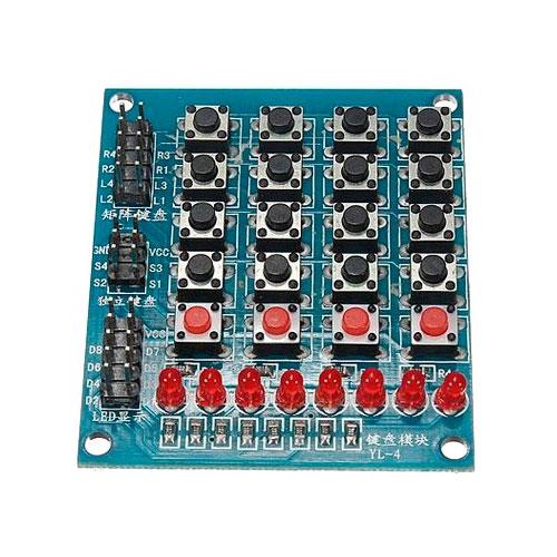 TECLADO 4X4 LEDS – ARDUINO