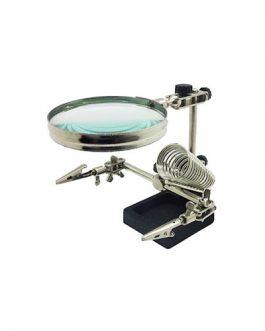 GAESHOW Estaci/ón de soldadura con lupa multifuncional con herramienta de reparaci/ón de lupa LED Herramienta de soldadura con ayuda de lupa