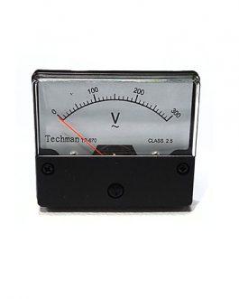 VOLTIMETRO ANALOGO  0-300V AC GRANDE