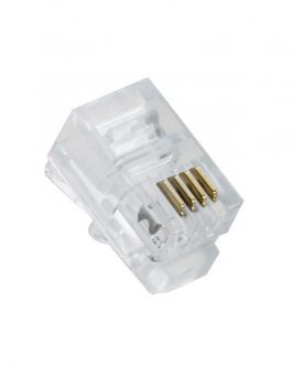 CONECTOR RJ9 4 HILOS
